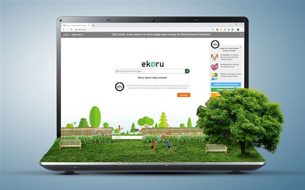 Search Engine That Uses Advertising Revenues for the Future of the Planet
