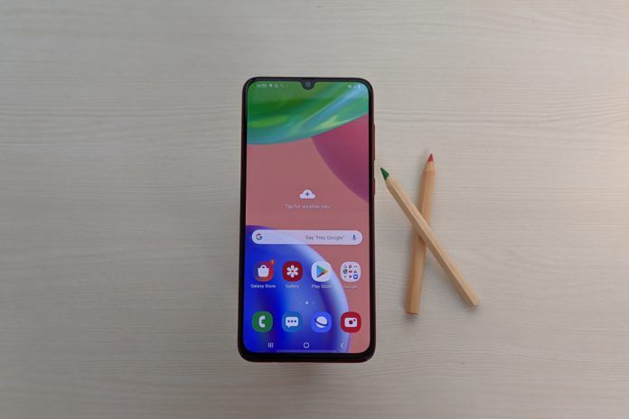 Galaxy A70s Android 10 Update Started