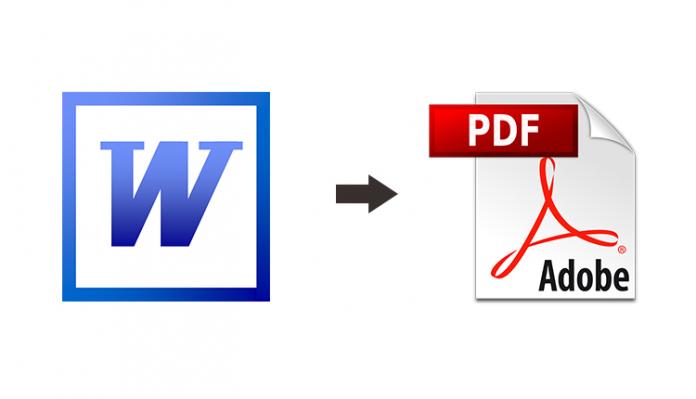 Word Belgesini PDF Formatına Çevirme (Programsız)