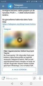 Telegramda Bildirimleri Kapatma